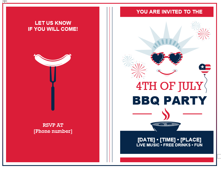 BBQ Party Invitation Template 02