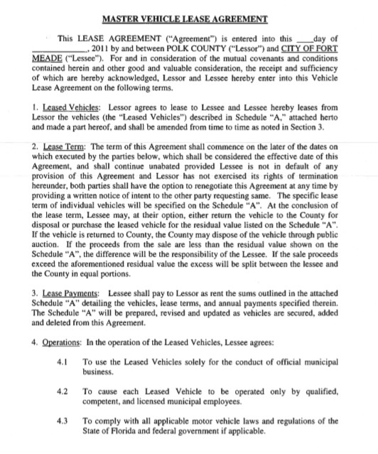 Car or Auto Leasing Agreement Template 10