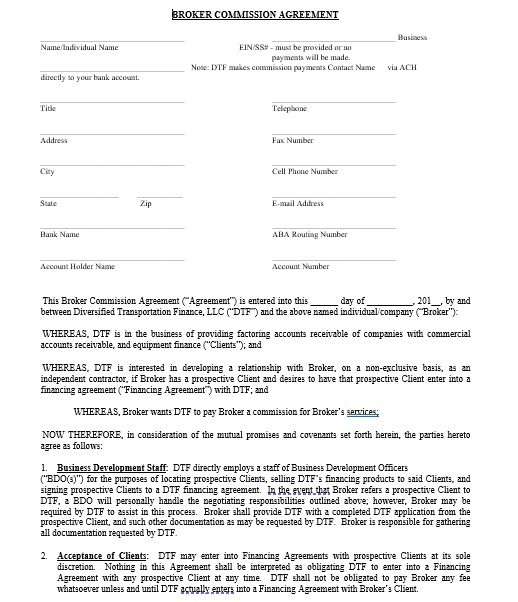 Commission Agreement Template 02