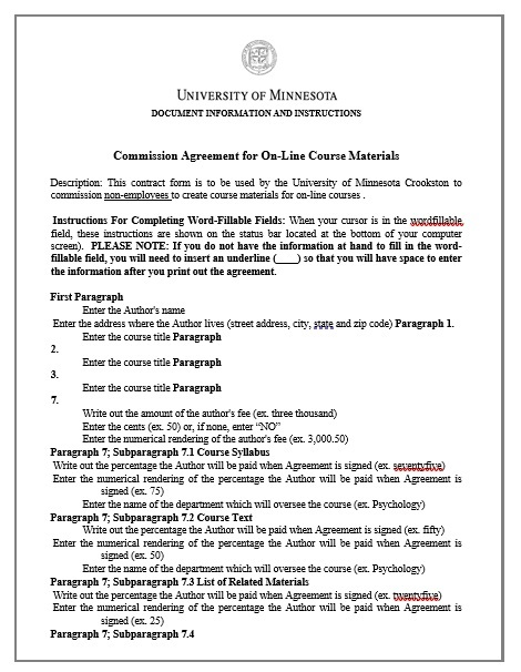 Commission Agreement Template 14