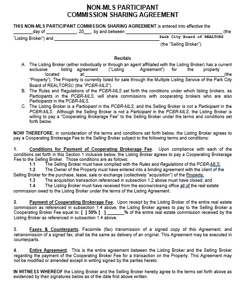 Commission Agreement Template 18