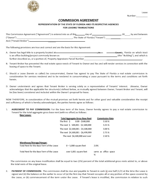 Commission Agreement Template 20