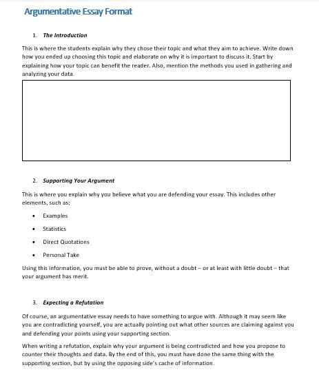 Essay Outline Templates