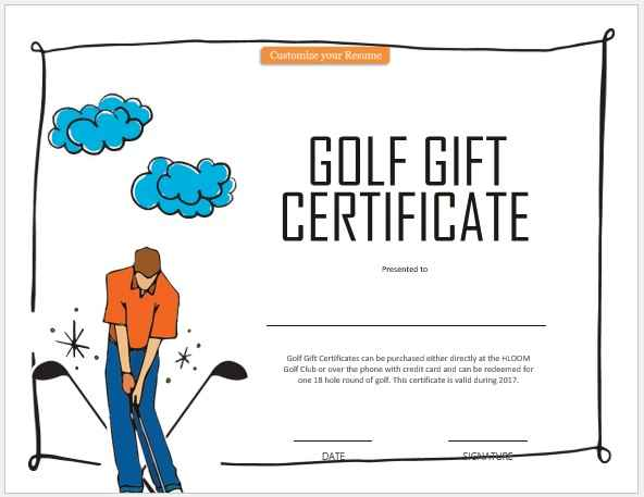 Gift Certificate Template 09