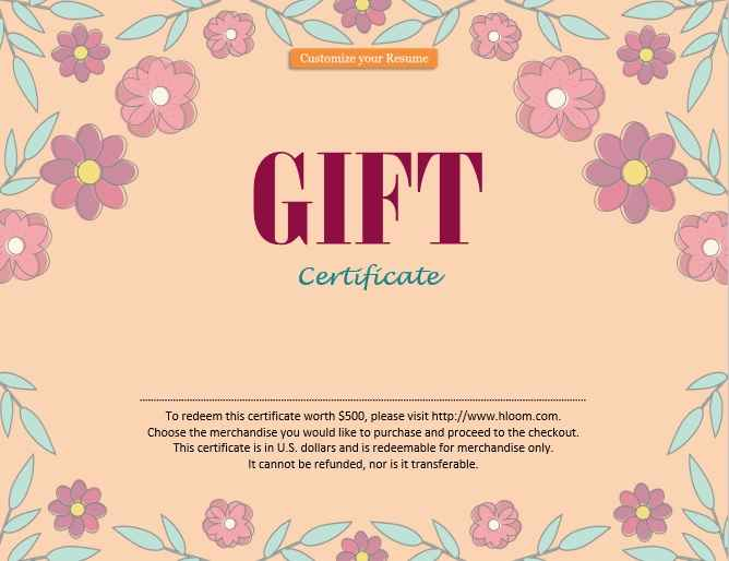 Gift Certificate Template 10