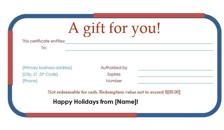 Gift Certificate Template 14