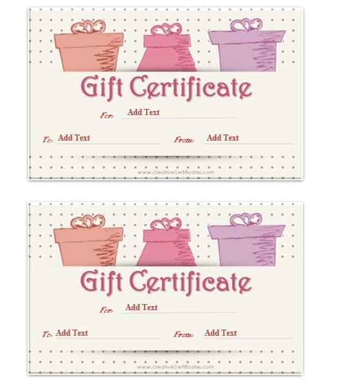 Gift Certificate Template 16