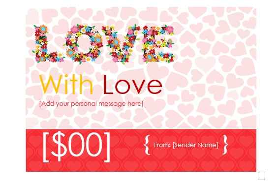Gift Certificate Template 17