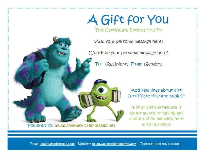 Gift Certificate Template 18
