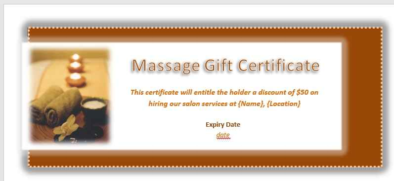 Gift Certificate Template 20