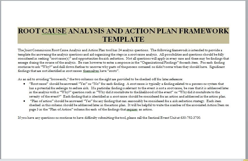 Root Cause Analysis Template 18