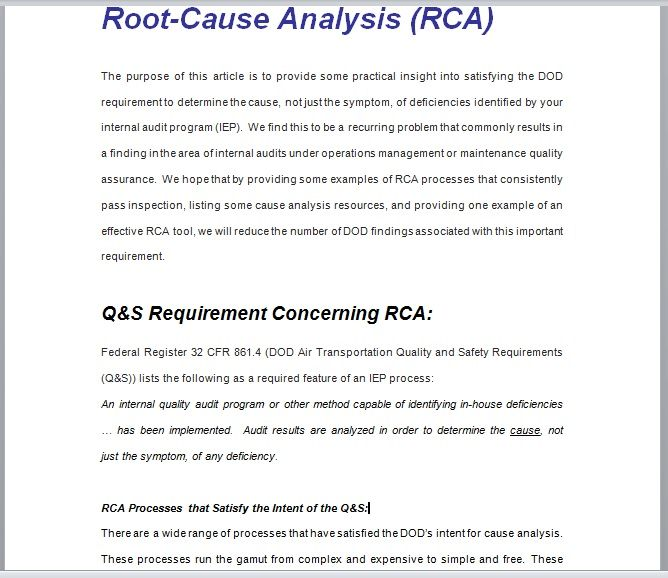 Root Cause Analysis Template 22