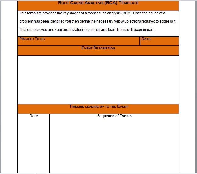 Root Cause Analysis Template 23