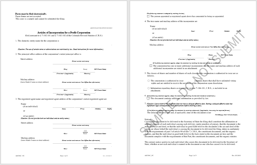 articles of incorporation template 01