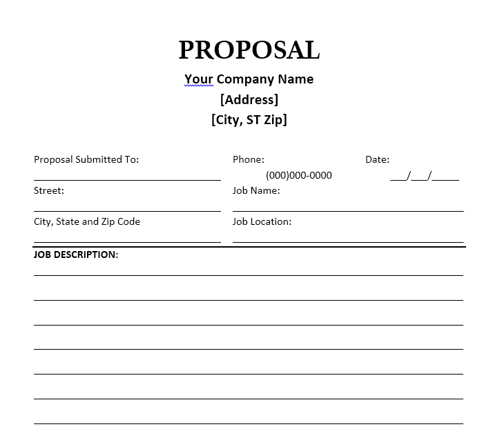 Business Proposal Template 06