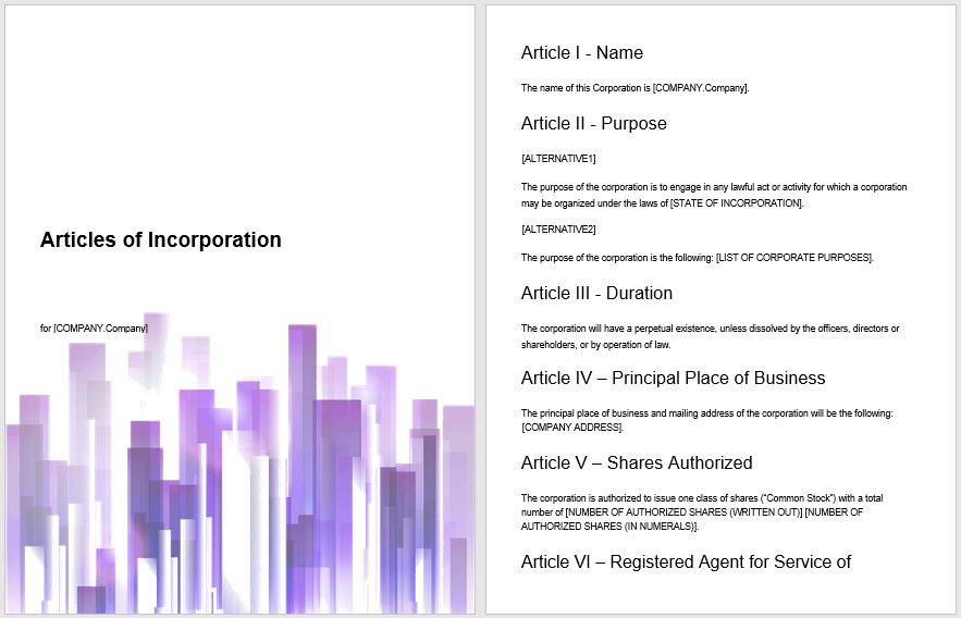 articles of incorporation template 07
