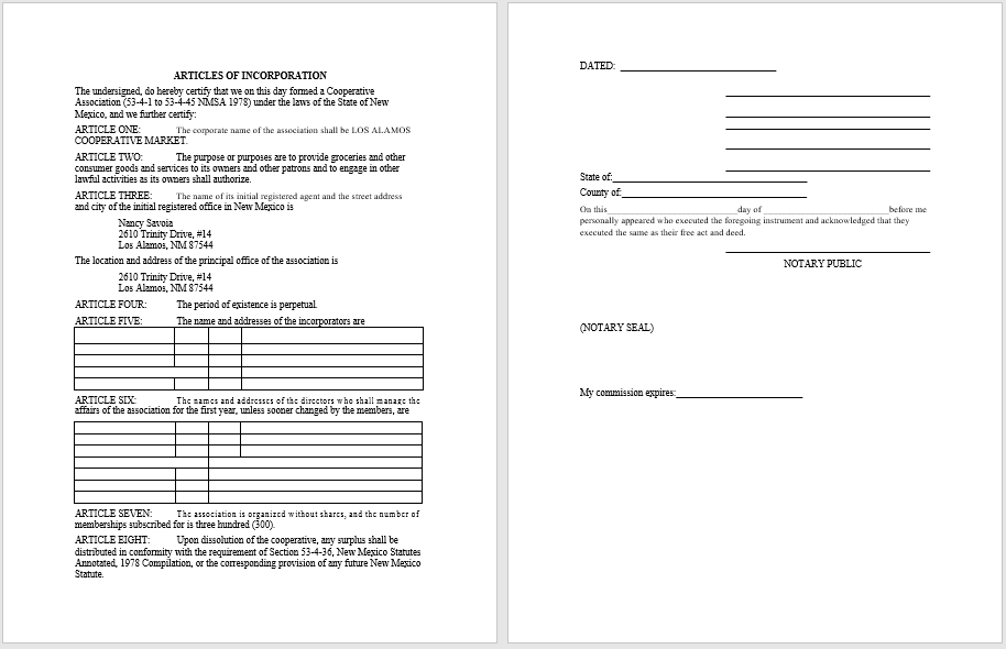 articles of incorporation template 08