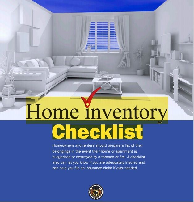 Household Inventory List Template 25