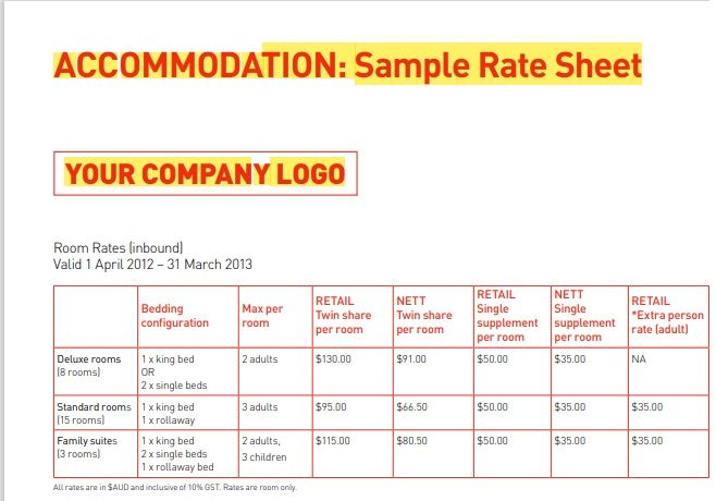 Wholesale rate sheet template 03