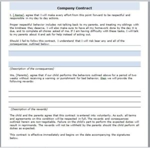 company contract template 05
