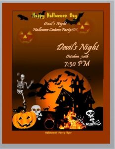 halloween party invitation template 07
