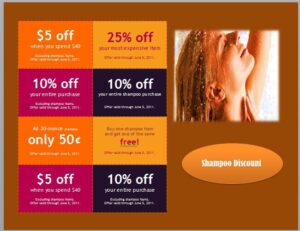 shampoo discount coupon template 01