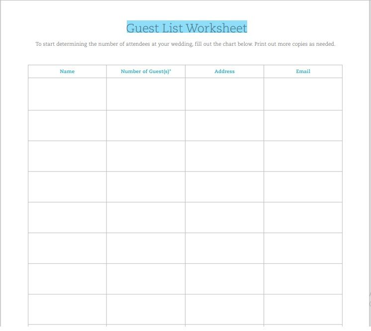 Birthday party guest list template 09