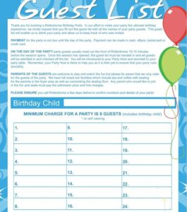 Birthday party guest list template 14