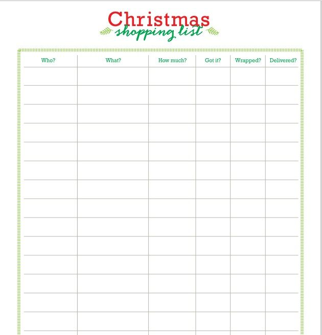 Christmas gift list template 06