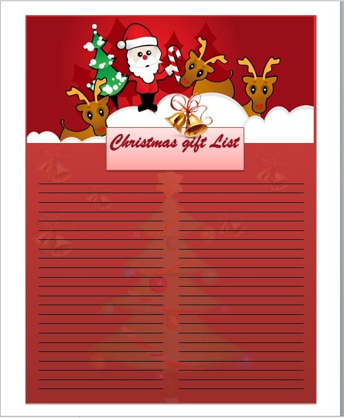 Christmas gift list template 09
