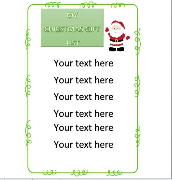 Christmas gift list template 22