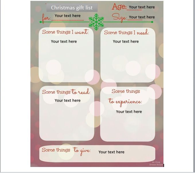 Christmas gift list template 25
