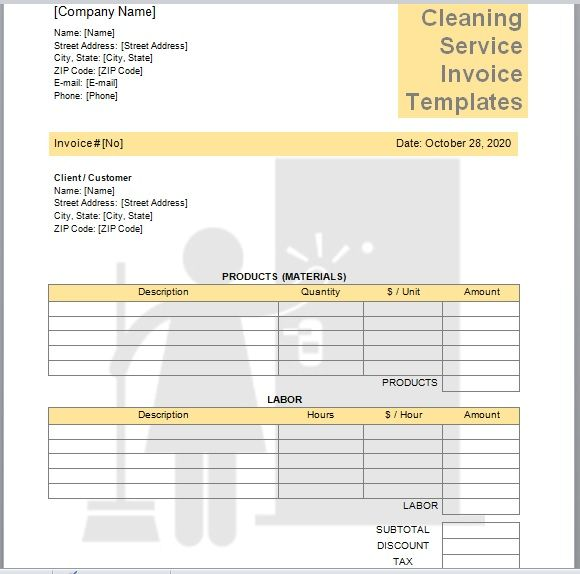 Cleaning Services Invoice Template 10