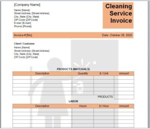 Cleaning Services Invoice Template 12