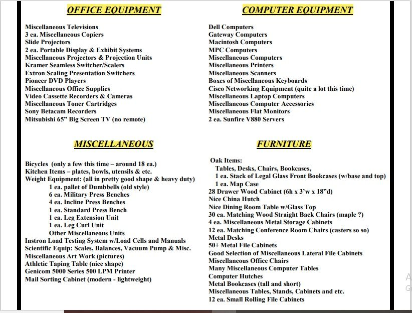 Equipment Inventory List Template 11