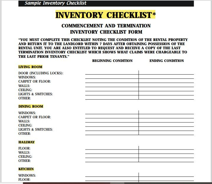 Equipment Inventory List Template 13