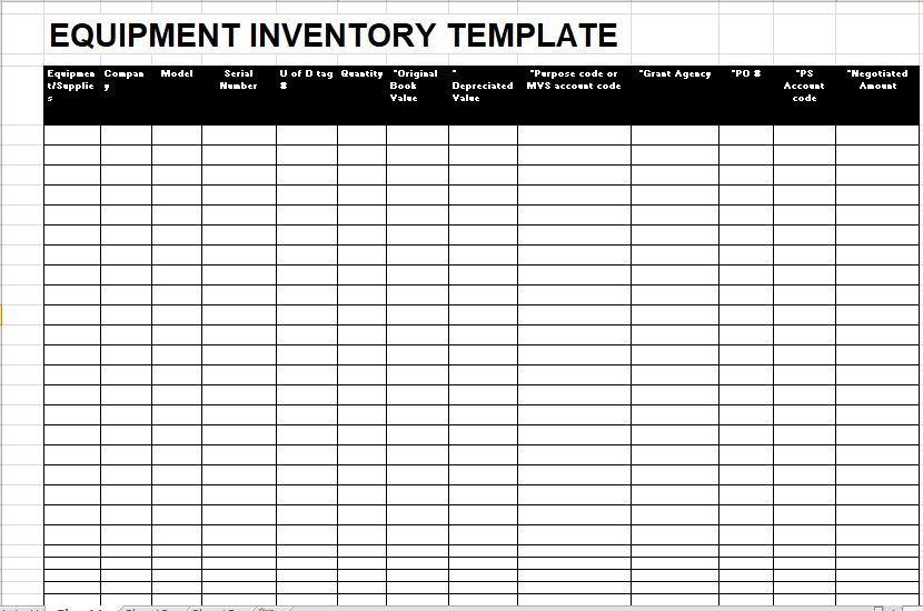 Equipment Inventory List Template 20