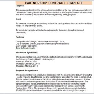Partnership Contract Template 17