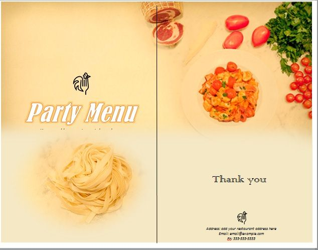 Party Menu Templates 02