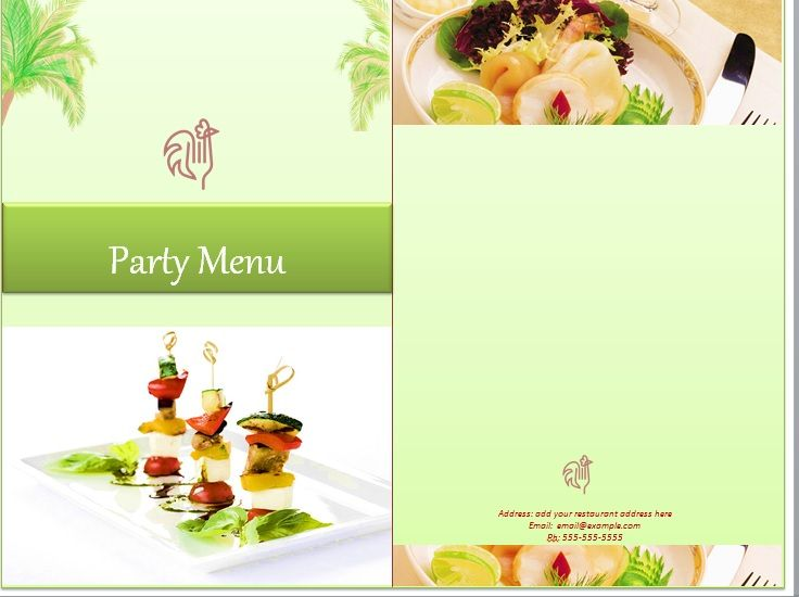 Party Menu Templates 04