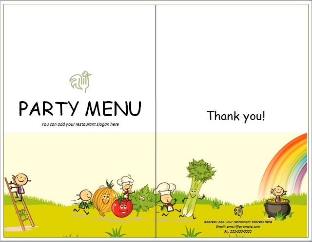 Party Menu Templates 06