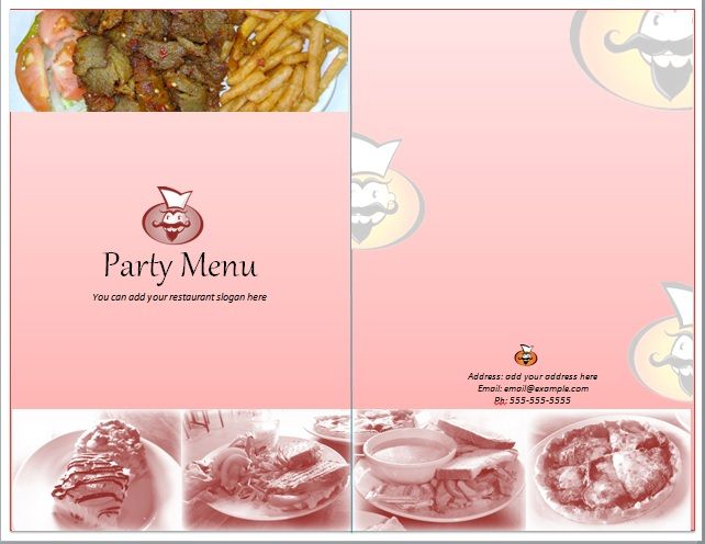 Party Menu Templates 07