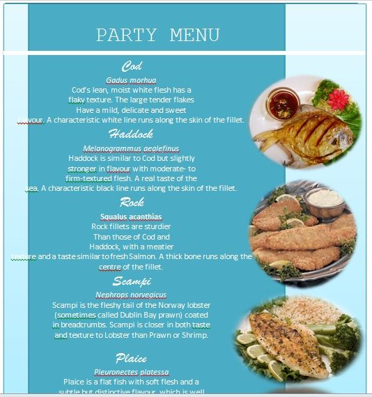 Party Menu Templates 14