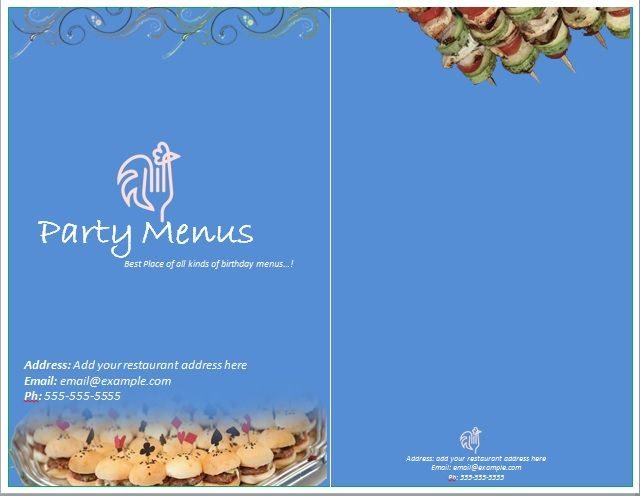 Party Menu Templates 16