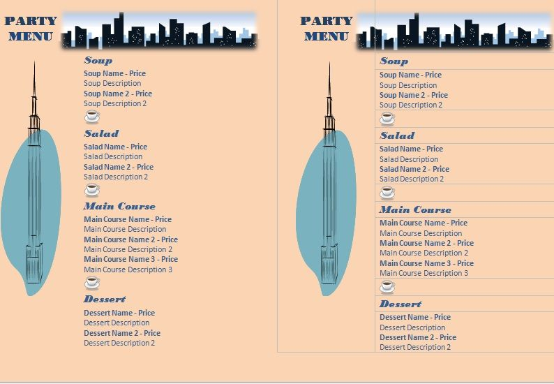 Party Menu Templates 19