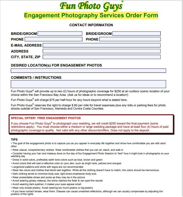 Photography Contract Template 03