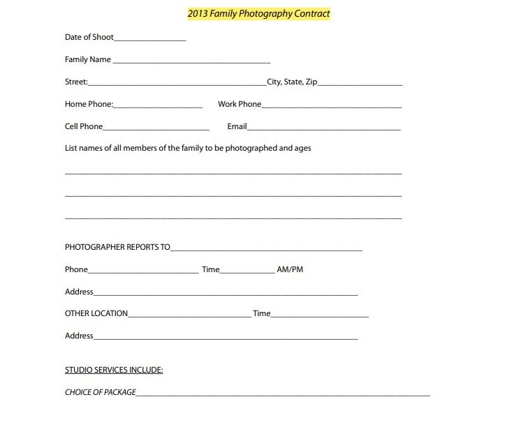 Photography Contract Template 04