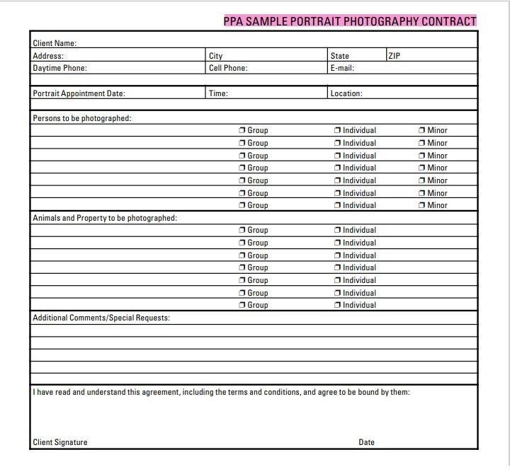 Photography Contract Template 09