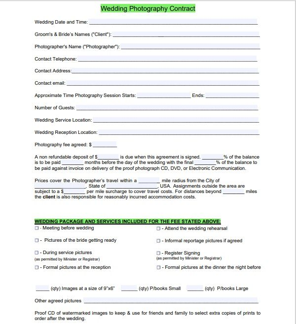 Photography Contract Template 12