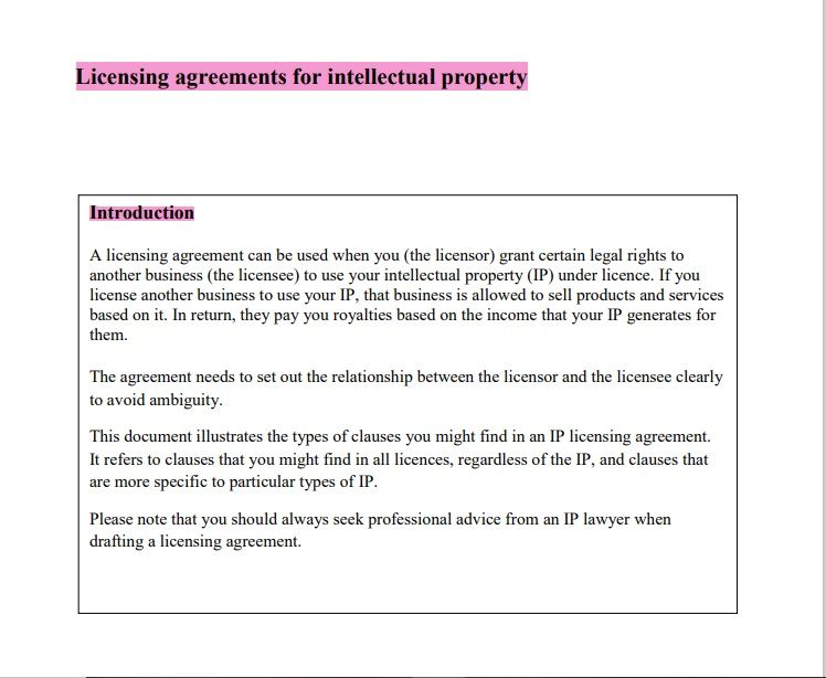 Property Contract Template 07